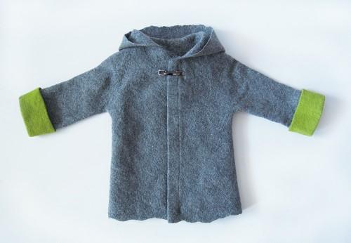 Felted Boy Jacket - wool coat - wool baby coat - grey wool coat - toddler jacket - merino wool - baby clothes