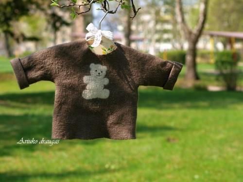 Felt jacket for baby - wool shirt - handmade sweater - merino wool felt sweater - baby sweater organic baby clothes
