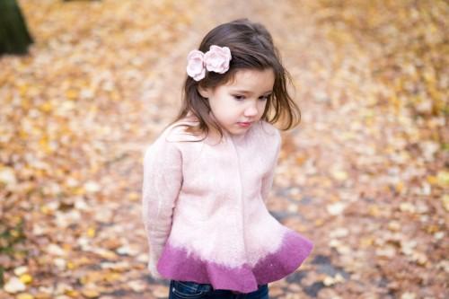 Felted wool jacket | pink jacket | merino wool jacket | wool felt jacket for girls | pink wool jacket | peplum jacket | boiled wool jacket