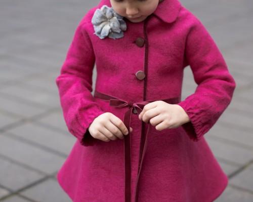 Felted coat | wool coat | felt spring coat for girls | spring coat | fit and flare coat | wool jacket | princess coat