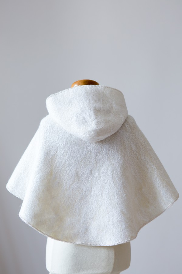 Felted wool christening coat
